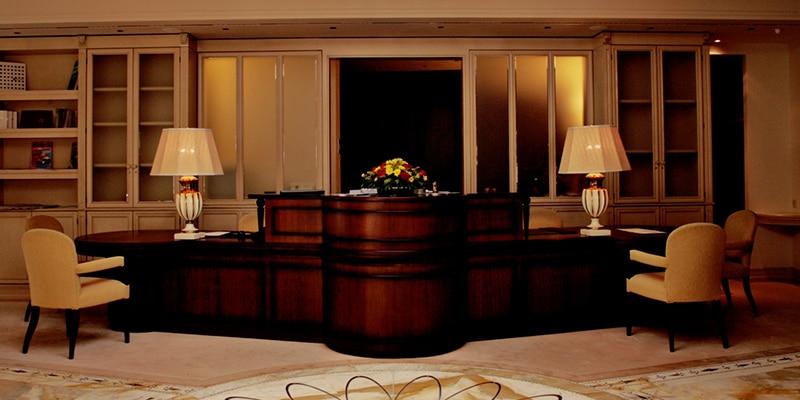 Beratungsecke im Hotel Friedrichsruhe