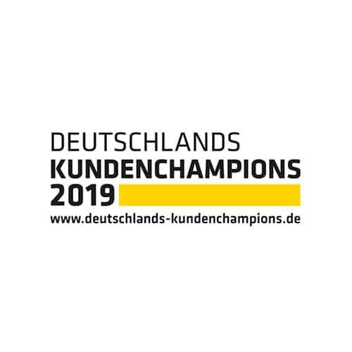 Logo Deutschlands Kundenchampions 2019
