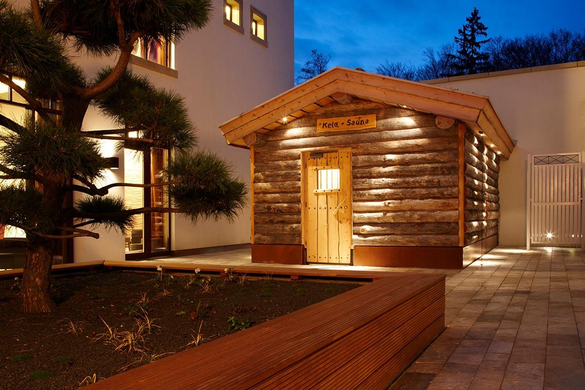 Außensauna im Wald & Schlosshotel Friedrichsruhe