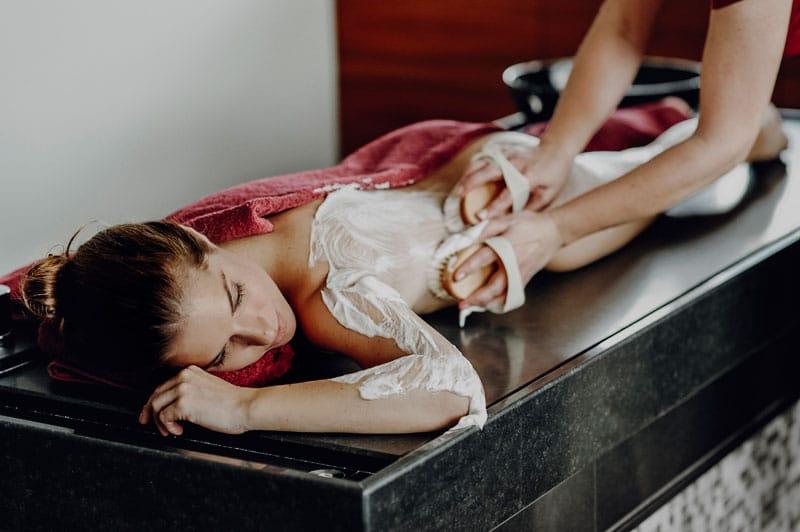 Seifenbürstenmassage