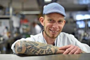 Küchenchef Boris Rommel in Küche