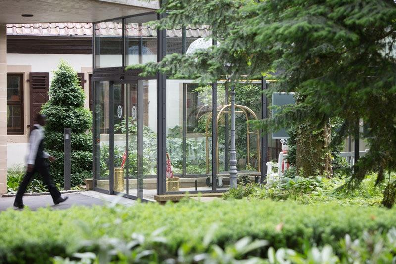 Eingangsbereich Wald & Schlosshotel Friedrichsruhe
